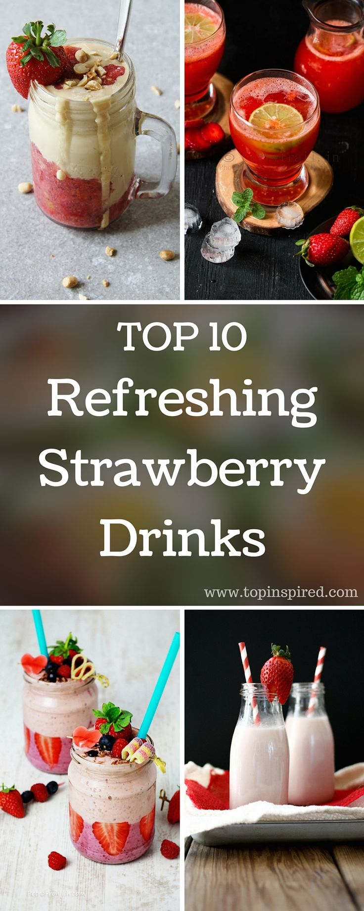 Start your day with a delicious strawberry smoothie or prepare a spiked strawberry drink that will give your next dinner party a 'wow' factor. #strawberry #smoothie #cocktail #strawberry_drink