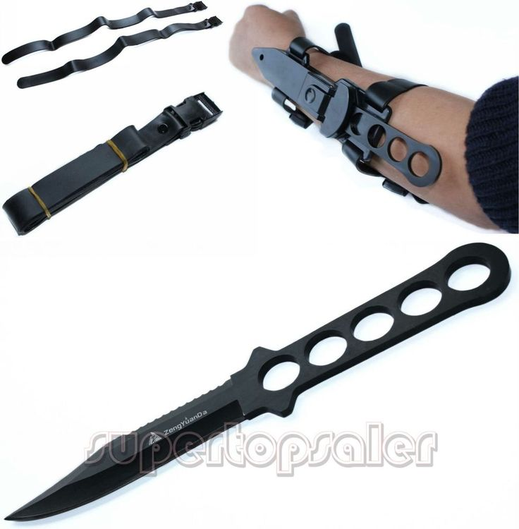 Scuba Diving, Snorkelling, Spearfishing  Knife with Straps and Sheath  survival