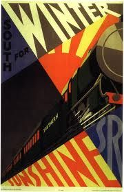 vintage train posters design