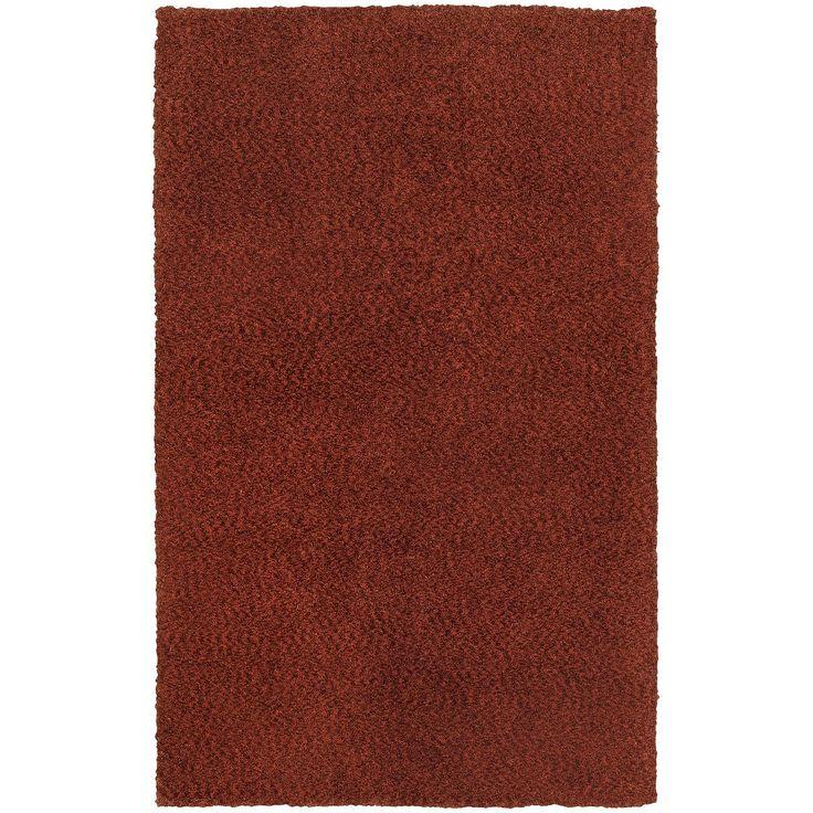 Heavenly 73406 Red Shag Rug by Oriental Weavers