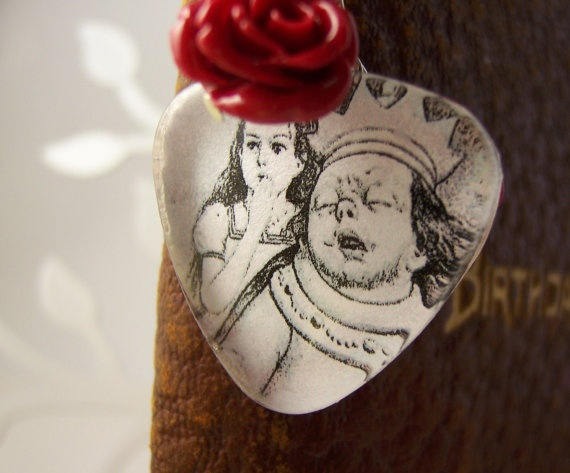 Alice and the Queen bookmark by AtMirosHouse on Etsy, $10.00The Queen