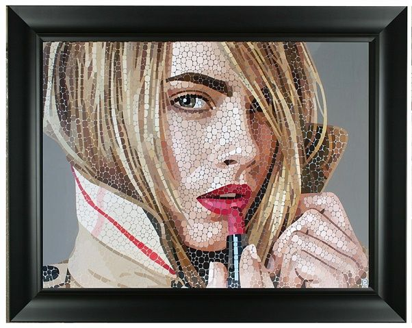 """""""Kiss Kiss Bang Bang"""" by Paul Normansell. Framed to 80 x 100 cm. Gloss Paint on Polished Aluminium. Price On Application.  To buy this painting or for more information please email: fraser@agallery.co.uk #Art #AGalleryArtists #PaulNormansell"""