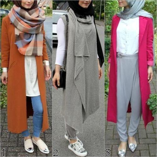Hijab Fashion 2016/2017: fall hijab styles Fall stylish hijab street looks www.justtrendygir