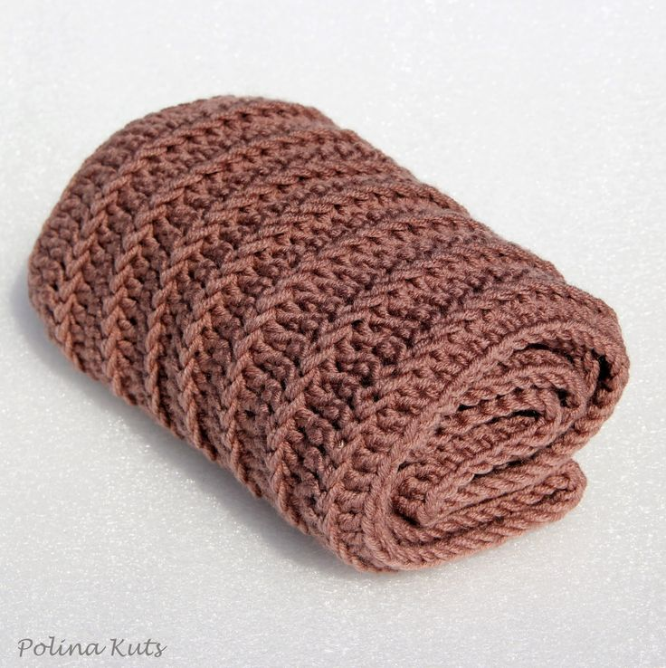 Polina Kuts: Мастер-класс: снуд, круговой шарф крючком. Пошаговое фото