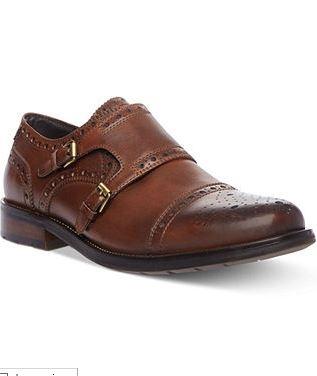 Steve Madden Men's Shoes, Exec Monk Strap Shoes