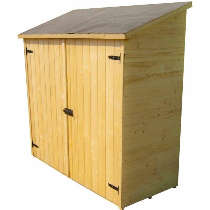 Abri de jardin mural en bois grand volume avec étagère de