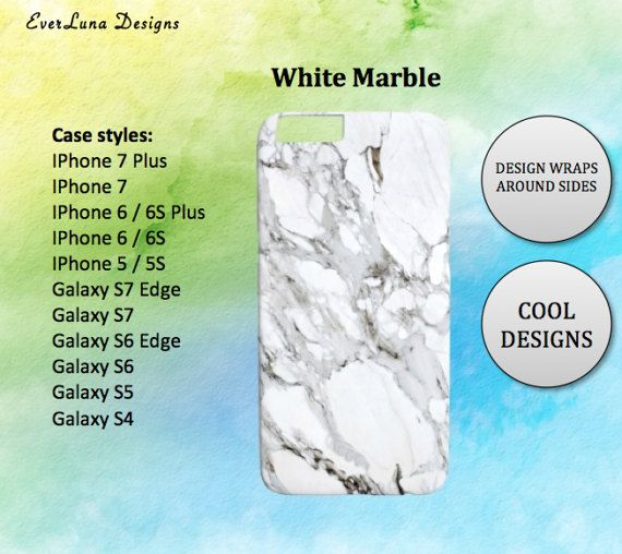 marble iphone 7 case iphone 6S case iphone 6S by EverLunaStore