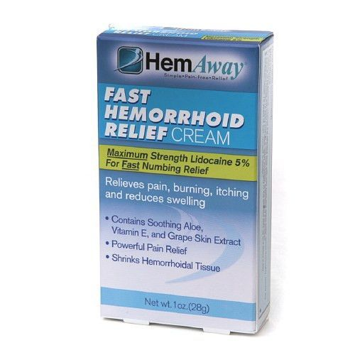 HemAway Fast Hemorrhoid Relief Cream 1 oz (28 g)