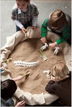Dinosaur dig sensory area!