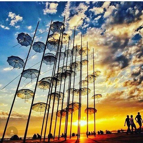 Ομπρέλες, Παραλία Θεσσαλονίκης