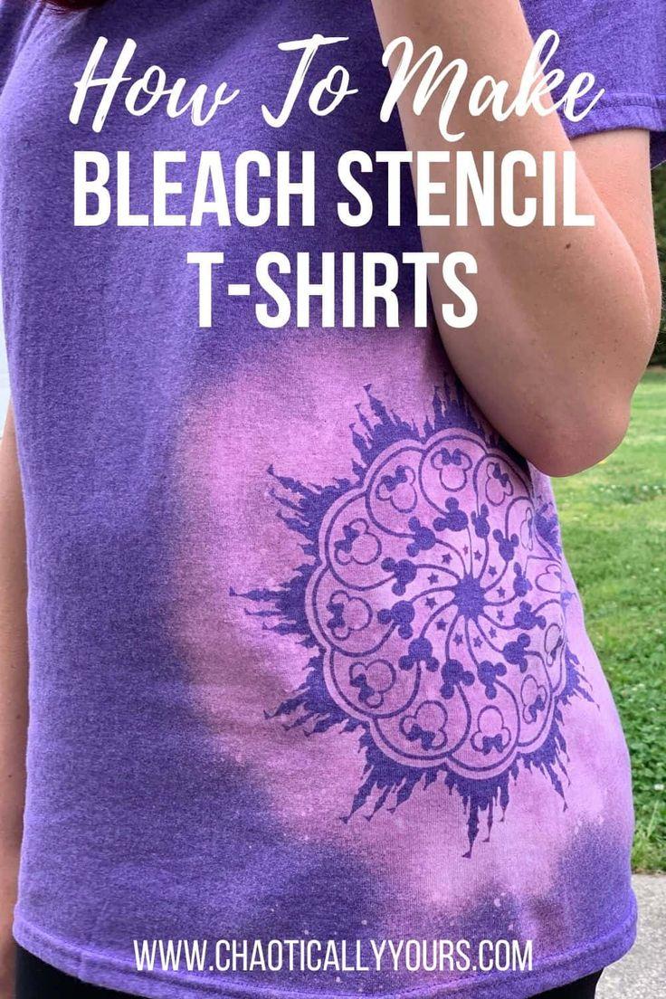 Diy bleach stencil tshirts bleach shirt diy bleach
