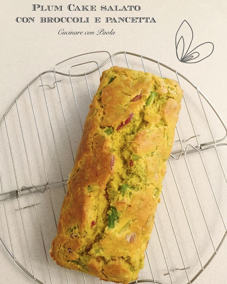 Plum cake salato con broccoli e pancetta!