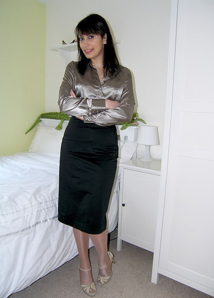Satin Dresses Satin Skirts Satin Blouses - Hot Black Blouse