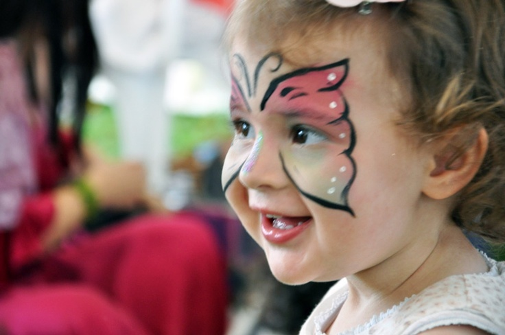 Free facepainting was available throughout the day