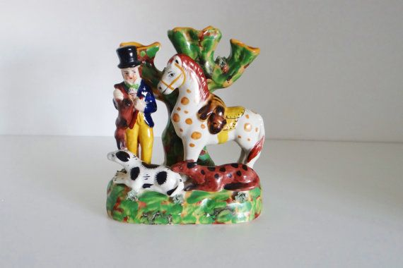 Vintage Antique 1900s Staffordshire Style Figurine by crabtulip
