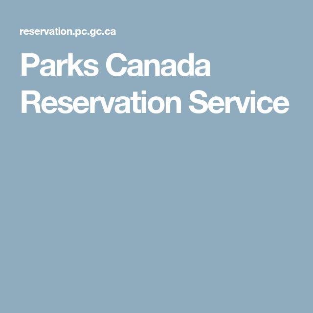 Parks Canada Reservation Service