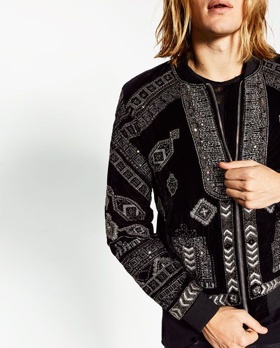 5ad4d762f4 Image 4 of BOMBER JACKET WITH METALLIC DETAILS from Zara