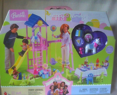 2003 Happy Family Babys First Birthday Barbie Doll Furniture Playground Playset | eBay