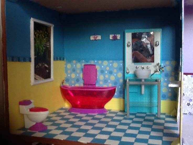 Barbie Dollhouse Bathroom Diy Diy Large Barbie Dollhouse