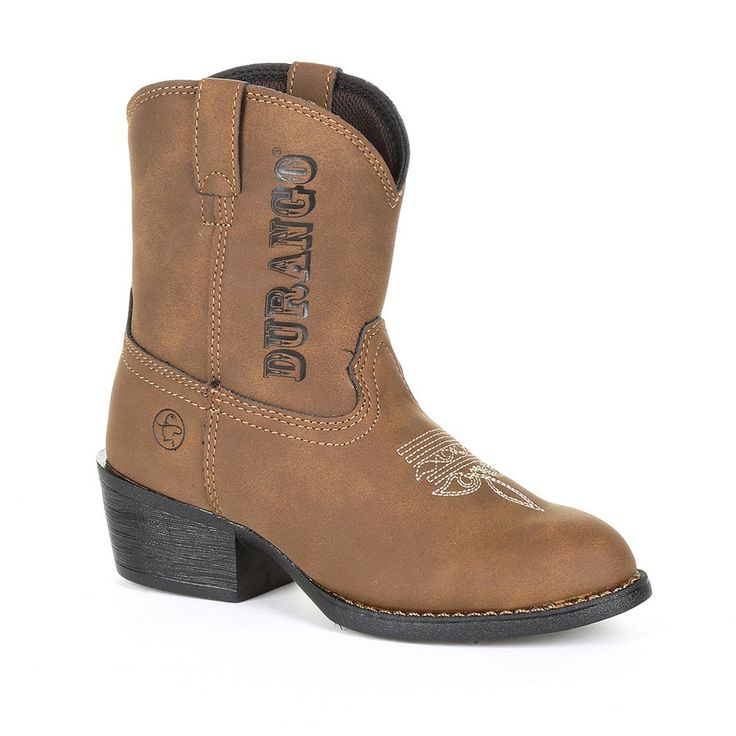 Lil Outlaw by Durango Logo Kids Western Boots, Kids Unisex, Size: 5, Brown