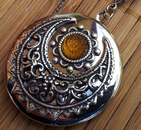 In Australia  Sun Locket  Victorian Filigree and by Angellesque