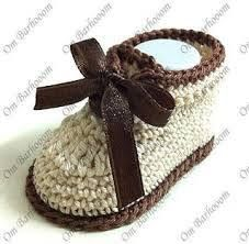 Crochet baby shoe, so sweet and simple. ༺✿ƬⱤღ✿༻                                                                                                                                                                                 More