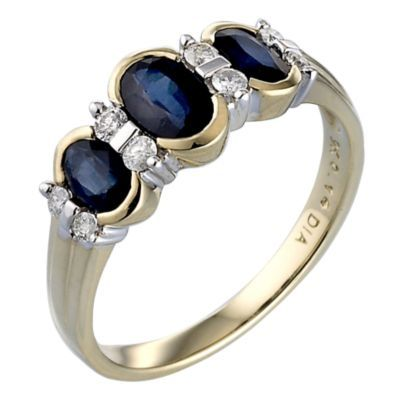 13 best Sapphire and diamonds images on Pinterest
