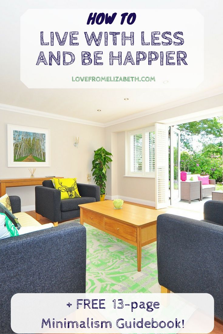 How To Live With Less And Be Happier | When you declutter your home, you make more room for the things that bring you joy. Download my free guidebook and start your minimalism journey today.