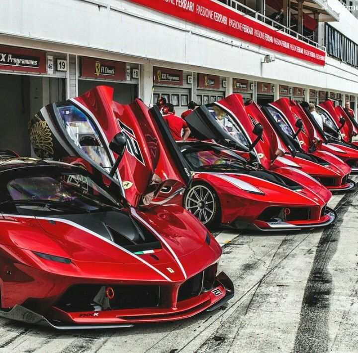 Ferrari FXXK. Collectively these cars are worth more than some countries = 