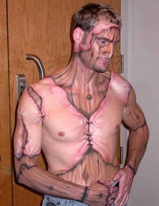 Tattooed muscle men nipple pierced gloves