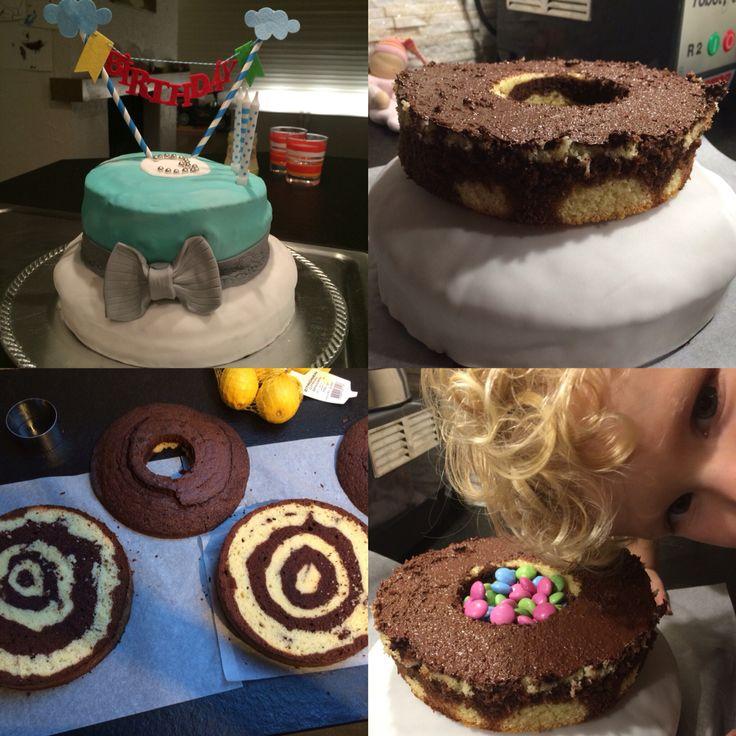 Pinata Smarties Kuchen Bithdaycake