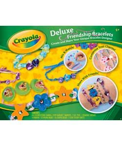 Create and share your unique bracelet designs.  Contains 64 coloured foam charms, 3 pipsqueaks markers, 2 gel pens, 5 beading threads, 4 ribbons, 50 round beads, 50 shaped beads and 2 gem sticker sheets. £9.99 from Argos