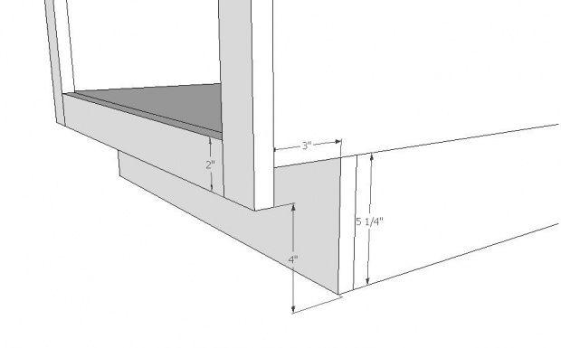 Kitchen Cabinets Toe Kick Dimensions