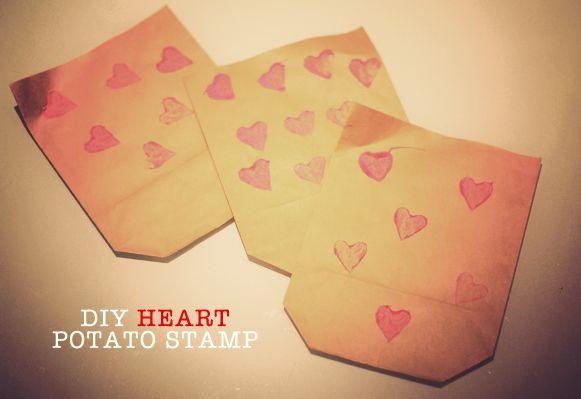 Mini Piccolini - DIY Heart Potato Stamp for Valentines Day