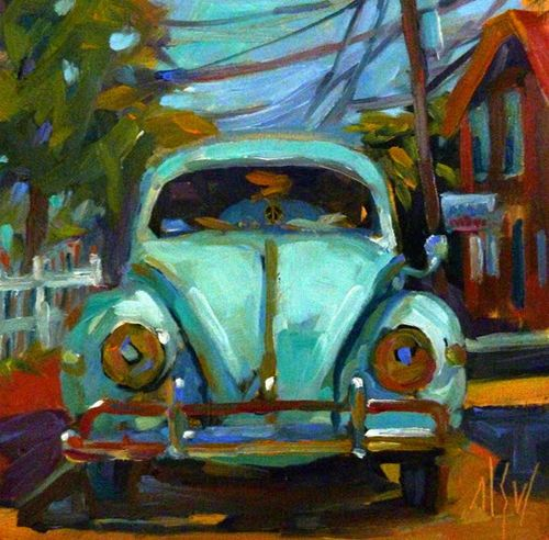 ''That's Classic'' by Mary Sheehan Winn (vw,volkswagen,beetle,bug,vintage,art,sixties,'60s,1960s)
