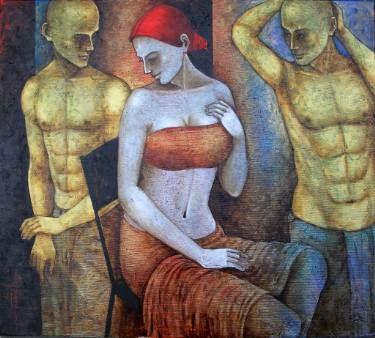 "Saatchi Art Artist Seba Art Gallery; Painting, ""2. ULUSLARARASI BODRUM SANAT ÇALIŞTAYI"" #art"