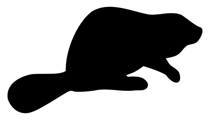 Beaver silhouette by @Dustwin, This is a silhouette of a beaver, on @openclipart
