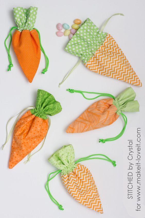 Wie süß sind diese kleinen Karotten-Kordeltaschen von Crystal von #StitchedbyCrysta …   – Addy fun