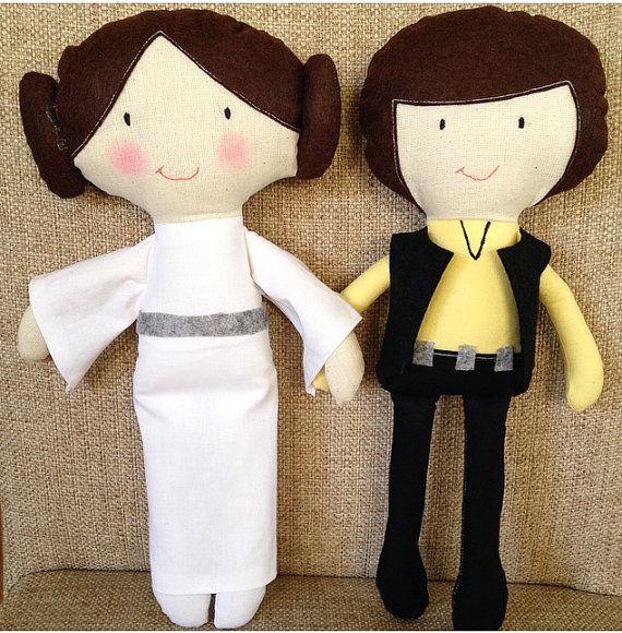 Princess Leia, Han Solo, Star Wars, Custom made, Plush Doll, Great gift, Cute stuffed doll, Birthday Gift, Handmade