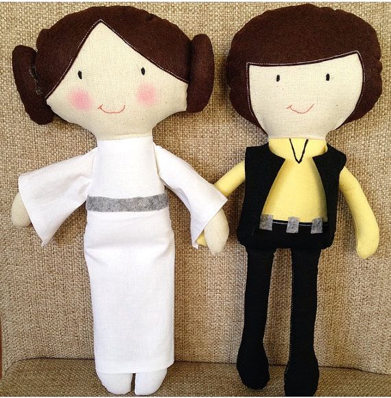 Princess Leia Han Solo Star Wars Custom made by AngelArtbyOzlem