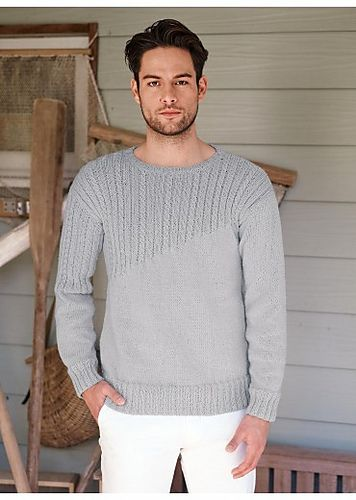 Ravelry: 05 Pull col rond / Round Neck Sweater pattern by Bergère de France