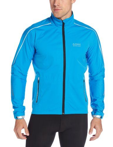 GORE BIKE WEAR Men's Mythos Gore-Tex Active Shell Jacket, Splash Blue, XX-Large. Waterproof and extremely breathable GORE-TEX® Active running jacket. Fully equipped. Rain protection for the urban runner who trains all year. Adjustable collar with easy-to-operate cord stopper for one-handed use. Pre-shaped elbows. Adjustable cuff. Size: XX Large. Reflectors for better visibility in poor light conditions.