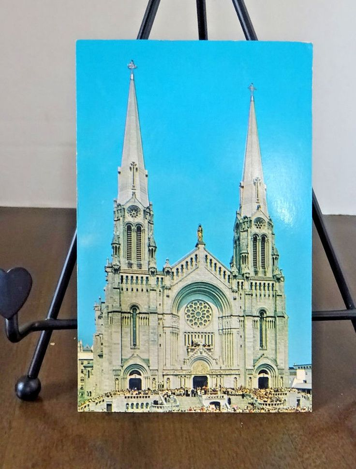 The Basilica -La Basilique Ste. Anne De Beaupre, Quebec Canada Postcard