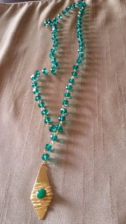 Jewellery by X                                                                                :  Μακρυά ροζάρια σε κοραλλί και πετρόλ!!