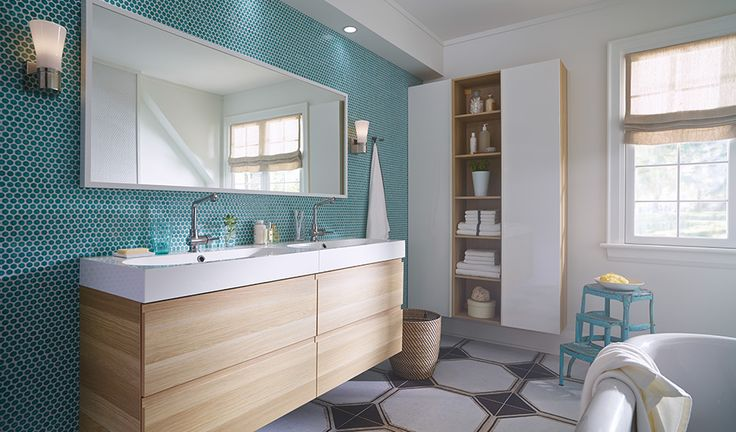 Les salles de bains qui donnent envie de chanter sous la douche, on est pour ça.