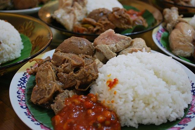 Indonesian food: Nasi gudeg
