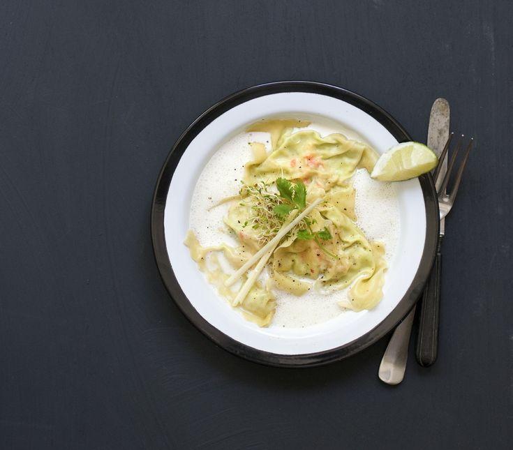 Soßen mit Meeresfrüchten sind sehr beliebt. So auch die Krabben in Currysahnes…