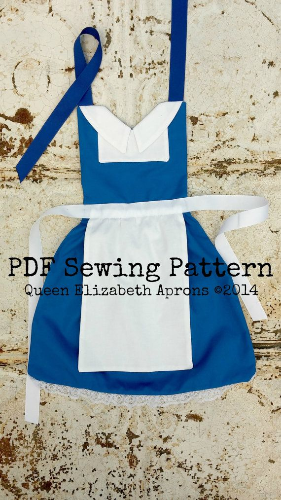 BELLE Beauty and the Beast Disney Princess inspired Child Costume Apron PDF Sewing PATTERN Girls Size 2-8 Peasant Dress up French Provincial