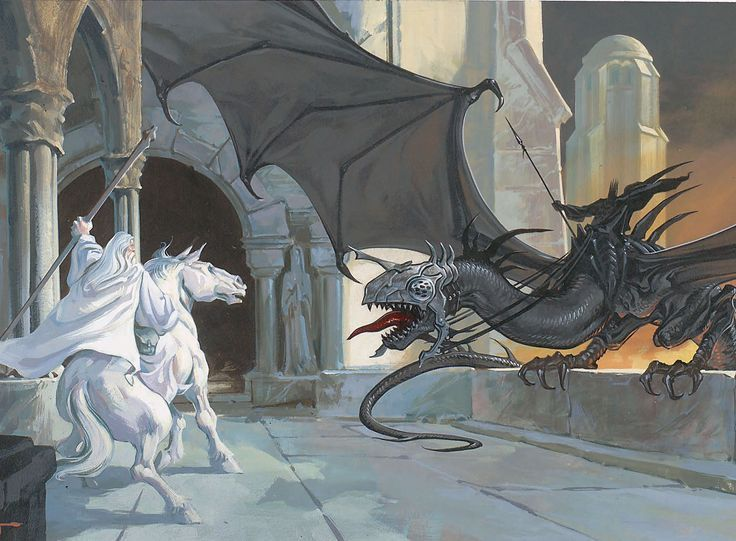 Mithrandir and the Witch King of Angmar