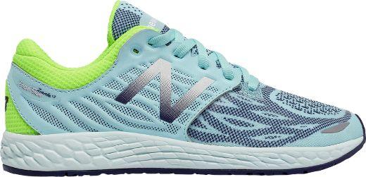 New Balance Girl's Fresh Foam Zante v3 Road-Runing Shoes Teal/Green 6.5 Wide Kids